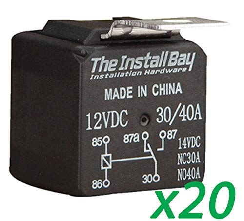 The Install Bay by Metra 20 Pack Economy 12 Volt 30/40 Amp Relay 12V 30A / 40A