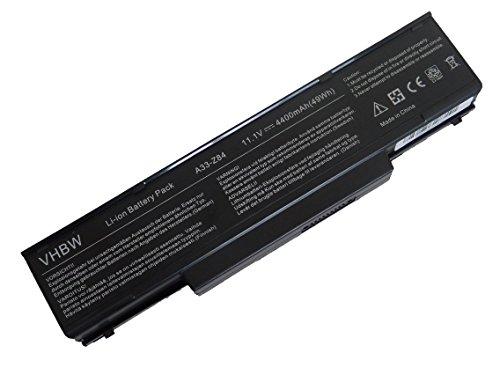 vhbw Li-Ion Akku 4400mAh (11.1V) für Notebook Laptop LG F1-2K25A9 wie 3UR18650F-2-QC-11, 916C4950F, M740BAT-6, SQU-511.