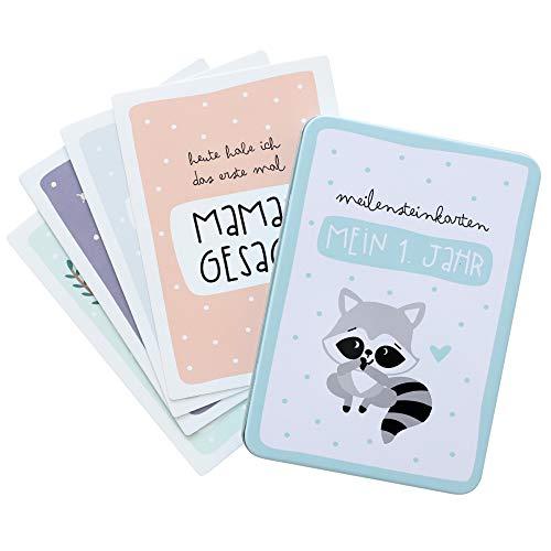 Odernichtoderdoch Meilensteinkarten | Mein erstes Jahr Babytagebuch | 50 Karten