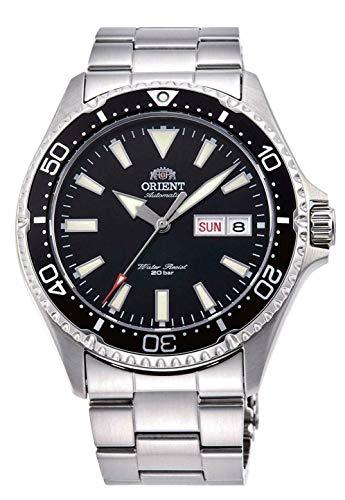 Orient RA-AA0001B Kamasu - Reloj de buceo automático para hombre, acero inoxidable, bisel negro, esfera negra