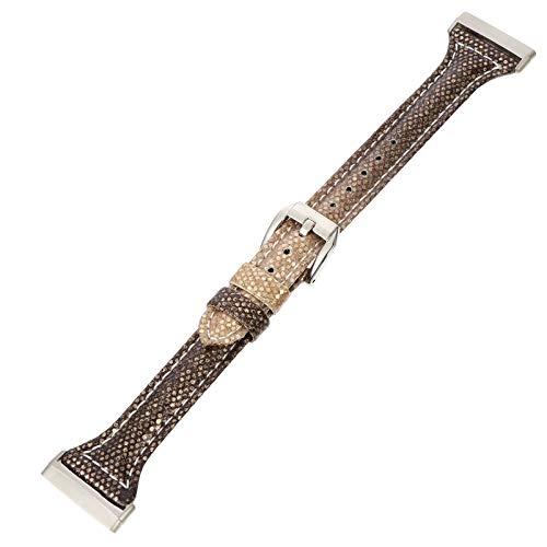 UKCOCO Correa de Reloj de Pulsera de Cuero Correa de Reloj de Repuesto Pulsera de Pulsera Compatible con Fitbit Versa3