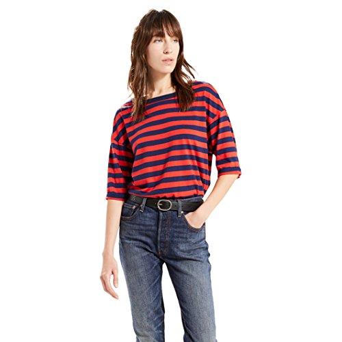 Levi's SUTRO TEE, T-shirt Donna, Multicolore (WILSON M. BLUE/F.SCARLET), Medium