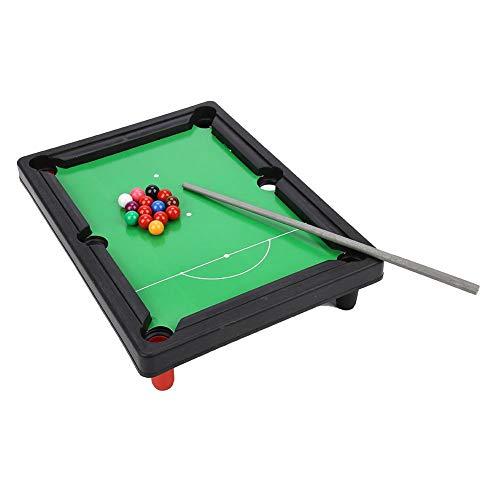 JULYKAI Billardtisch, hohe Simulation 13x9,5x2,6 Zoll tragbares Mini-Snooker-Spielset Leichter Mini-Billardtisch für Familien, die Spielen Erwachsene für Praty