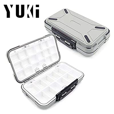 Yuki Fishing Lure Boxes, Bait Storage Case Fishing Tackle Storage Trays Accessory Boxes Thicker Plastic Hooks Organizer Containers for Vest Casting Fly Fishing - Waterproof Seal