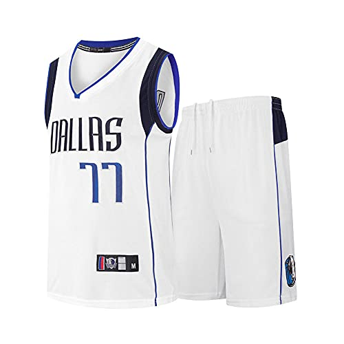 GVYS Camiseta para Hombre y Mujer, Mavericks # 77 DONCIC Camisetas de Verano Chaleco Deportivo sin Mangas Transpirable de Secado rápido Camiseta de Baloncesto para fanáticos, S-3XL