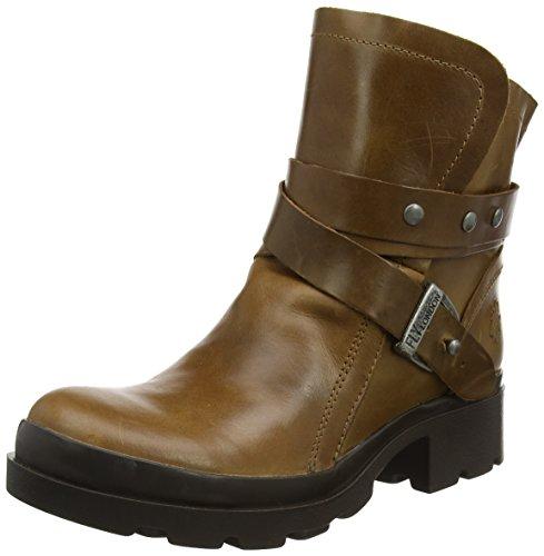 FLY London Damen Mok Biker Boots, Braun (Camel), 39 EU