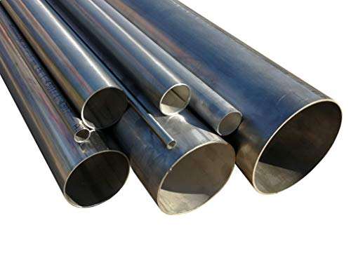 Edelstahlrohr geschweißt DIN EN 10217-7 Länge 250mm (25cm) 38mm x 2mm