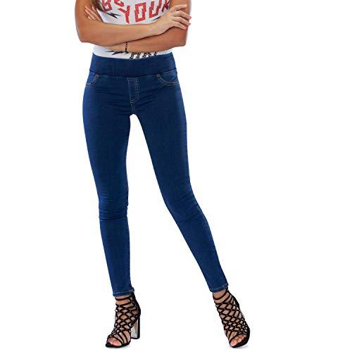 MAMAJEANS Lima - Jeggings Vita Alta, Jeans da Donna Skinny Elasticizzati. Massima comodità, Relax e Stile - Made in Italy (XS, Medio)