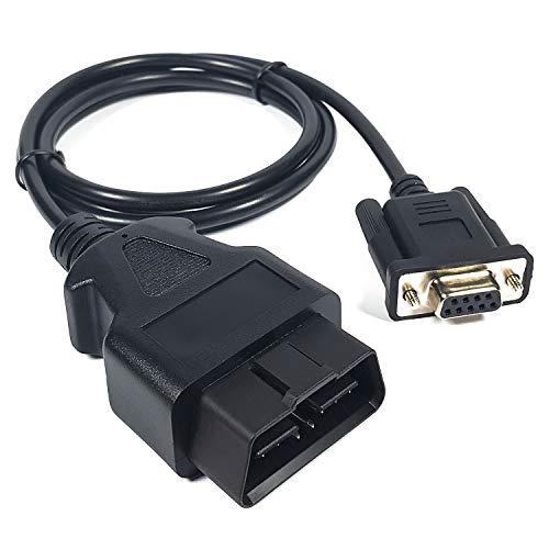 UART - Cable DB9 hembra a OBD2 OBDII de 16 pines compatible con el módulo USB2CAN de InnoMaker