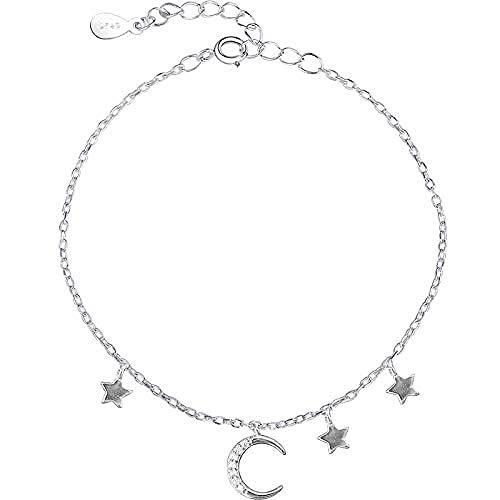Armband Schmuck Damen Armband Shiny Diamond Bend Moon Mini Star Quaste Anhänger Armband Mori Starry Sky Schmuck