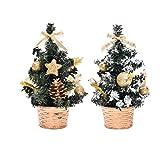 Best Christmas Trees - GARNECK 2pcs Christmas Tree Miniature Xmas Tree Decor Review