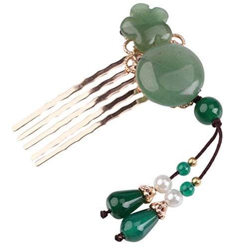 FRCOLOR Peine de Perlas para Mujer Tocado Pin para El Cabello Decoración para Tocado de Niña