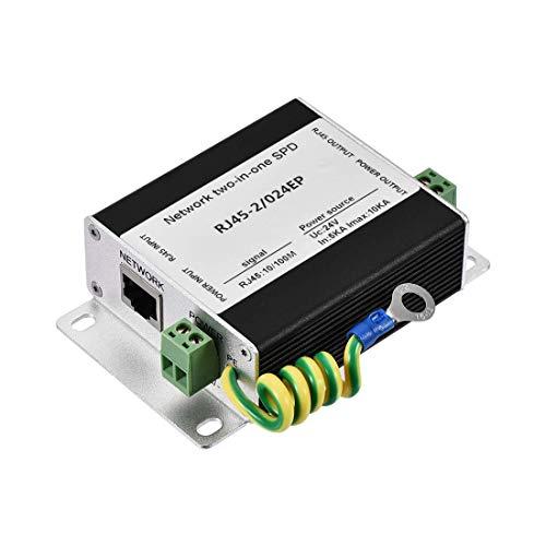 YeVhear - Protección contra sobretensiones Ethernet para módem 10/100M Base-T Gigabit 24 V, protección contra rayones