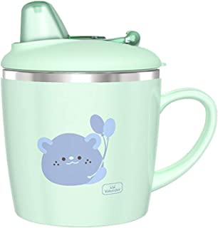 Baby Insulated Spout Sippy Cup with Handle, Stainless Steel Kids Trainer Transition Cup, 7 oz, Mint Green