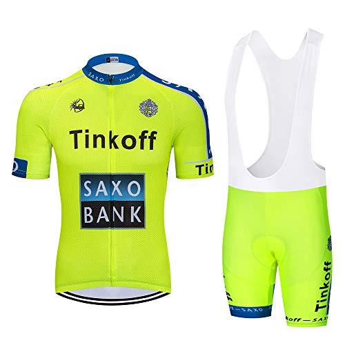 MTBHW Ropa Ciclismo Verano para Hombre Conjunto de Ciclismo Maillot y Culotte/Pantalones Cortos
