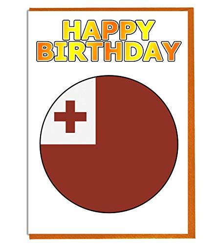 Tonga Flag - Verjaardagskaart - Vriend - Familie - Collega - Mate - Boss - Loved One
