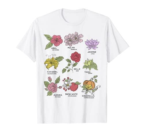 Disney Princesses Types Of Flowers T-Shirt