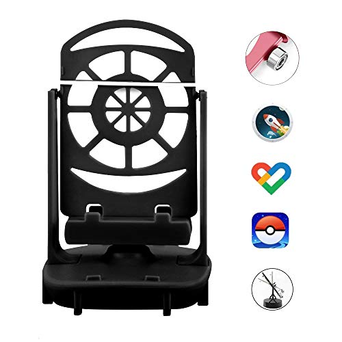NEWZEROL Phone Swing Accessories Compatible for Poke Ball Plus/Pokemon Go Cell phone Pedometer, [USB Cable] [Easy Installation] [Mute Version] [Support 2 Phones] Quick Steps Earning Device-Black