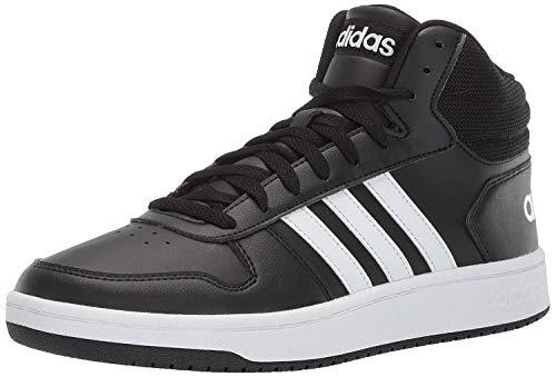 adidas Men's Vs Hoops Mid 2.0 Basketball Shoe, Black/White/Black, 10.5 M US