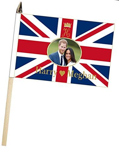 1000 Flags Prince Harry & Meghan markle Hochzeit Verlobungsring Große Hand winkt Höflichkeit Flagge