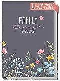 Family-Timer 2021/2022 A5 [Happy Flower] Der Familien-Kalender 18 Monate: Juli 21 bis Dezember 22 | Familien-Planer für bis zu 4 Personen + viele hilfreiche Features | nachhaltig & klimaneutral