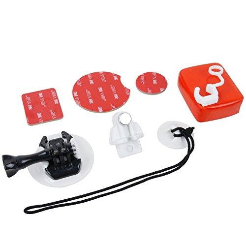 Accessories TMC 10-teiliges Board-Halterung für Surf/Snowboard, Wakeboard-Set für GoPro Hero 4/3+/3/2/1 (schwarz) (Farbe: weiß)