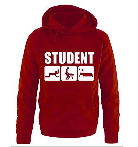 M&M-Shirts Student Fun Sweatshirt à Capuche pour Homme Taille s à XXL Coloris Rouge XXL