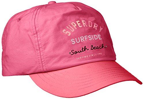 Superdry Oleta Cap Gorra de bisbol, Rosa Neon Pink, Talla única para Mujer