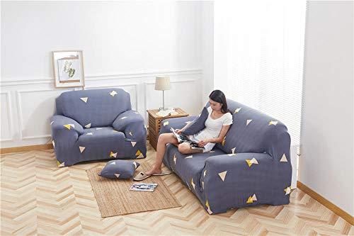 Funda para Sofá 1/2/3/4 Plazas sofá cubierta Protector de Sofás para Perros Gatos Para Acolchado Reversible Cubierta Sofa Antideslizante contra Mascotas Polvo y Manchas(azul marino)1 Plazas:90-140 cm