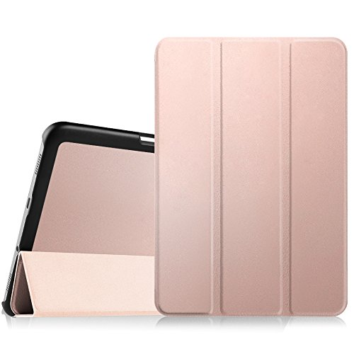 Fintie Custodia per Samsung Galaxy Tab S2 8.0 - Ultra Sottile di Peso Leggero Tri-Fold Case Cover Sleeve con Funzione Sleep/Wake per Samsung Galaxy Tab S2 8.0' (8 Pollici) Tablet, Oro Rose