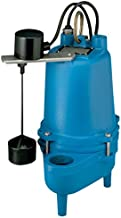 Barnes SE411VF Submersible Cast Iron Sewage Pump - 4/10-HP, 7,500 GPH, 120V / 1Ph, 20' Cord, No Float Switch