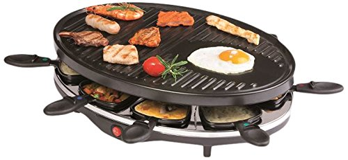 Domo DO9038G Raclette-Grill, Metall, Schwarz