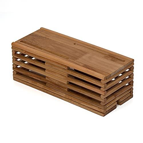 Caja Organizadora Cables Grande,Caja Cables,Organizador De Textura De Madera,Protector De Cable Caja,Caja...