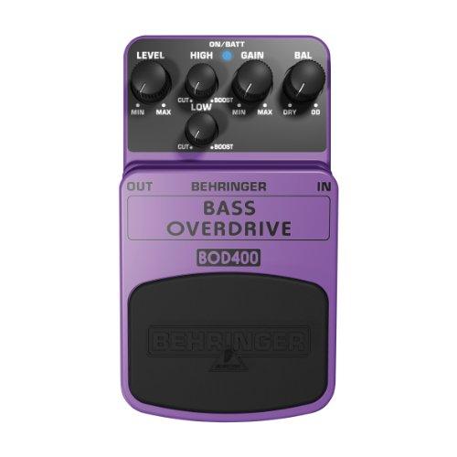Behringer Purple Bass Overdrive Stomp Box BOD400