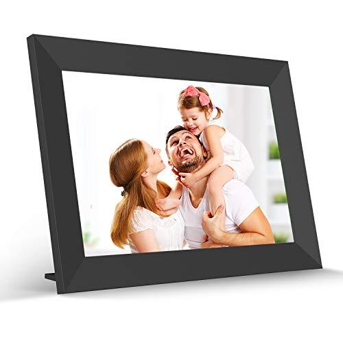 Marco de fotos digital WiFi de 10,1 pulgadas, pantalla táctil HD IPS con memoria de 16 GB con rotación automática para compartir a través de la aplicación en cualquier lugar