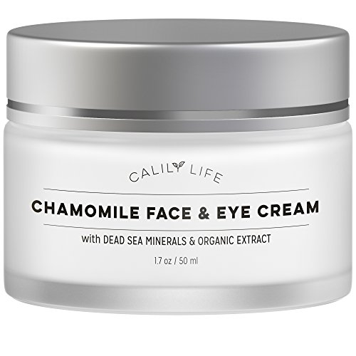 Calily Life Chamomile Face Cream for Face and Eye with Dead Sea Minerals, 1.7 Oz.