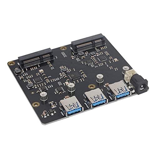 liaobeiotry Dual-mSATA-SSD-Speichererweiterungskarte X852 USB3.0-Modul kompatibel für Raspberry Pi 3 Modell B+(Plus)/3B Leistung zur Erweiterung der mSATA-SSD-Speichererweiterung