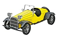 3Dペーパーパズル クラシックカー イエロー ウラノ ペーパークラフト 車