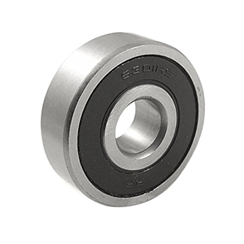 Othmro Deep Groove Rolling Ball Bearing 12mm×37mm×12mm Single Side Rubber Seal 6301RS 1 Pcs