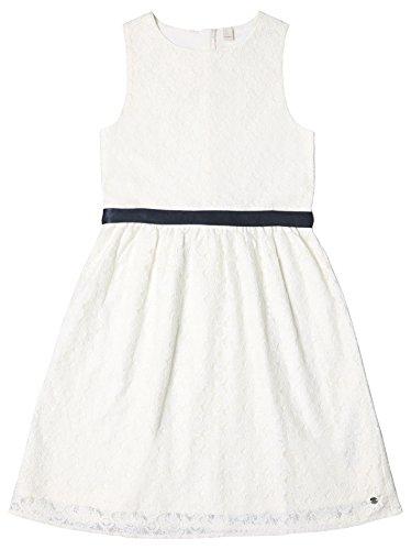 ESPRIT KIDS Mädchen RL3002512 Kleid, Weiß (Off White 110), 164 (Herstellergröße: L)