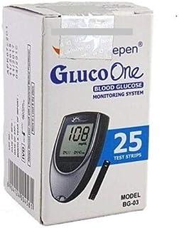 Dr. Morepen BG-03 Blood Glucose Test Strips, Pack of 25(No Glucometer)