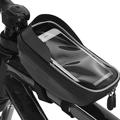 BOLORAMO Soporte para teléfono para Bicicleta, Bolsa Impermeable para teléfono Bolsa para Bicicleta Accesorios para Bicicletas Soporte para teléfono Celular para Bicicleta para Montar