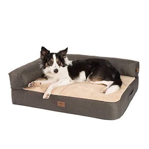 JAMAXX Premium 2-in-1 Hunde-Sofa - Orthopädisch Memory Visco, Abnehmbare Polster,...