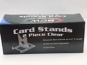 Box of 20 BCW 2-Piece Card Display Stands for Top Loaders, Magnetics, or Screwdowns