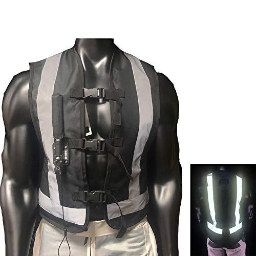 YXYECEIPENO Gilet Airbag Moto Homme Gilet De Protection Airbag Bouteilles De Gaz Remplaçables pour Réutilisation pour Motos Et Véhicules Hors Route (Unisexes) (Cylindrée 33CC, sans Bouteille De CO2)
