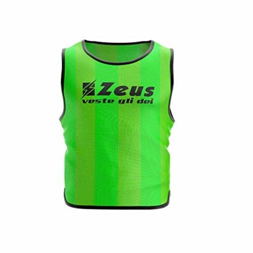 Zeus 10 Pezzi Casacca Promo Pettorina Allenamento Ginnastica Training Corsa Fitness Palestra Calcio Calcetto (Confezione 10 Pezzi) (Senior, Verde)