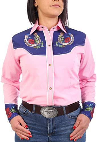 Last Rebels Country - Camisa para mujer, diseño de Western rosa XL