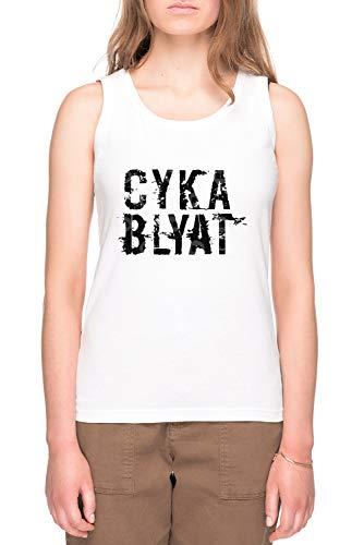 Cyka Blyat Dames T-shirt Tee Wit Women's Tee White