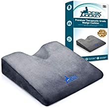 Desk Jockey Car Seat Memory Foam Wedge Cushion Pillow - Elevate Height and Comfort While Driving with Premium Therapeutic Grade Firm Automobile Wedge Pad for Motorists, Truckers, and Vehicle Use