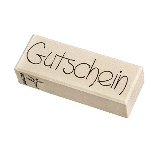 RAYHER 28490000, H.- Stempel Gutschein, 3 x 8 cm, Artikel 18904